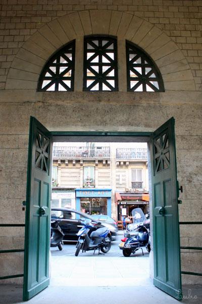 Arènes de LutèceのRue Monge側ドア