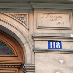 パリ118番地&建築家名プレート