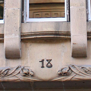plaque de numéro d'immeuble Art nouveau 番地プレート