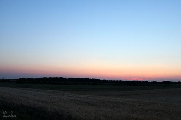 21時50分頃。夏は深夜まで明るくて本当にきもちいい♪