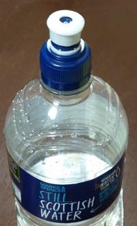 水ボトルのキャップ