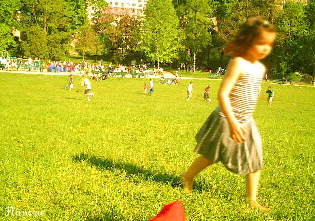 パリの公園で