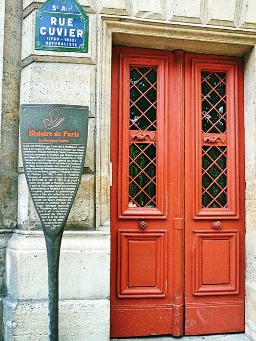 Rue Cuvier, Histoire de Paris