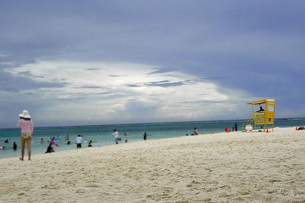 雨上がりの砂浜@マニャガハ島 plage