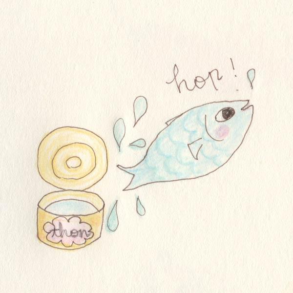 ツナ缶 お魚ジャンプ